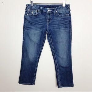 True Religion Rolled Capri Basic 5 Pocket Jeans 31